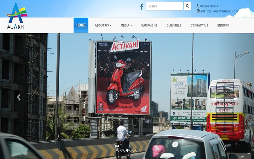 Dynamic Website Designing for Alak Advertising
