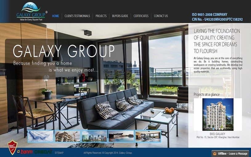 Dynamic Website Designing for Galaxy Group