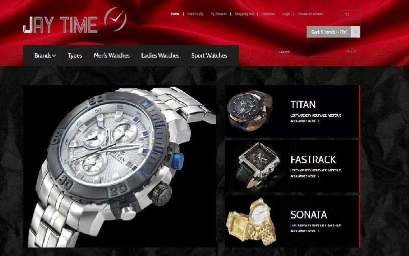 E-commerce Website Designing for Jaytime
