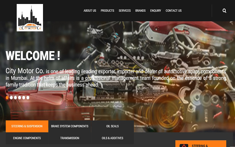 Website Designing for City Motors